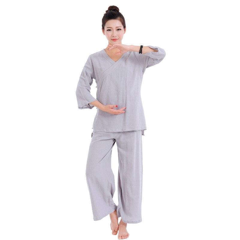 Summer Cotton&linen Martial Arts Clothing Sets Buddhism Zen Monk Suits Lay Meditation Uniforms Ensembles D'arts Martiaux