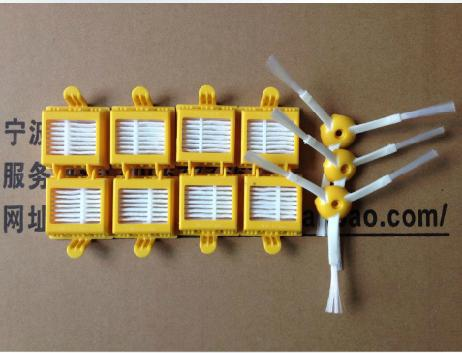 Free shipping 8 HEPA Filter +3 Side Brush set for iRobot Roomba 700 Series Vacuum Cleaning Robots 760 770 780 790 replacement