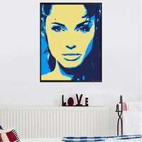 Portait Of Most Sexy Woman In World Angelina Jolie Figure Decorative Graphic Canvas Oil Painting By