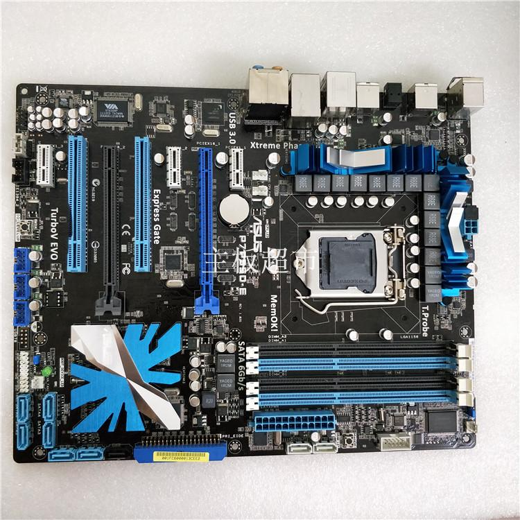 Free shipping original motherboard for P7P55D-E DDR3 LGA 1156 P55 16GB for I5 I7 CPU USB2.0 USB 3.0 P55 Desktop motherborad