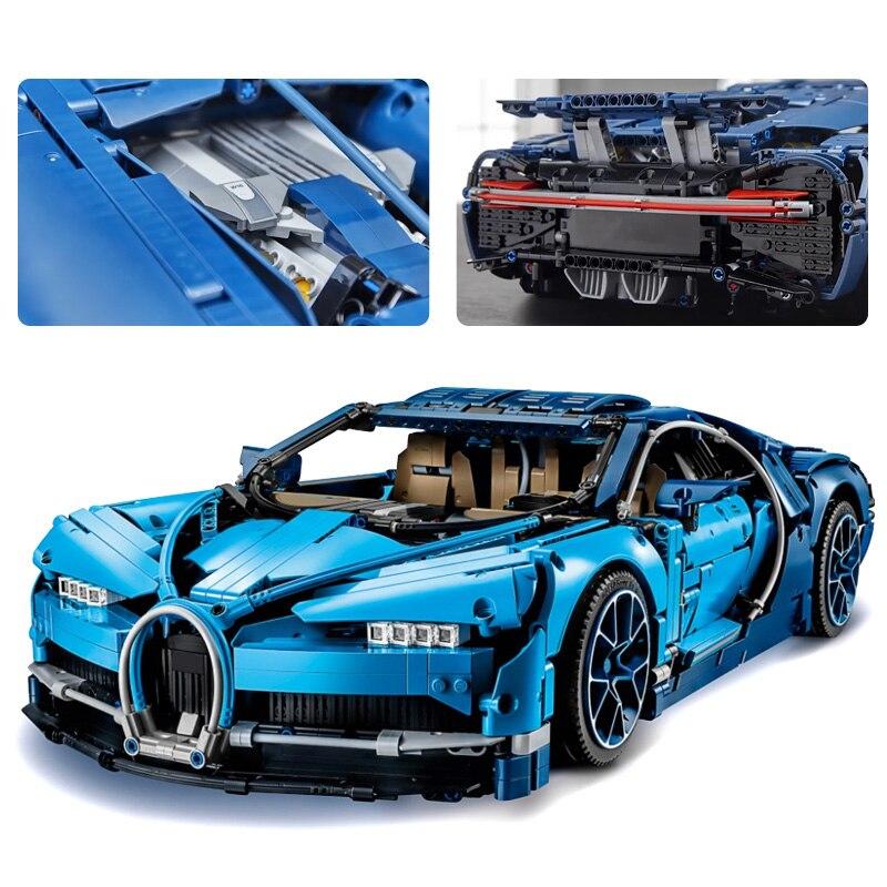 lepin Technic Series 20086 the Super Blue Racing Car Set 42083 Building Blocks Bricks Legoinglys Toys Race Car Children Gift