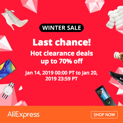 AliExpress Winter SALE and Hot Clearance deals up to 70% off