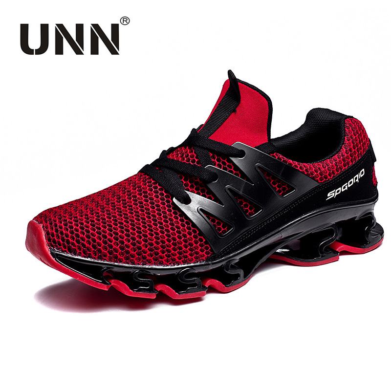 UNN Cushion Sneakers Men Breathable Mesh Letter Shoes Mens Sports Running Shoes Exercise Trainers Sneakers For Male