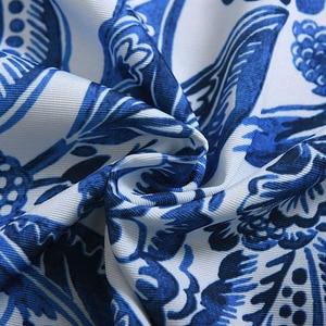 Image 5 - Nodic Style Blu Fiore di Stampa Blackout Cortina di Soggiorno Camera Da Letto Del Capretto Porta Decorazione Della Casa di Sollevamento Finestra Tenda Solido Caldo