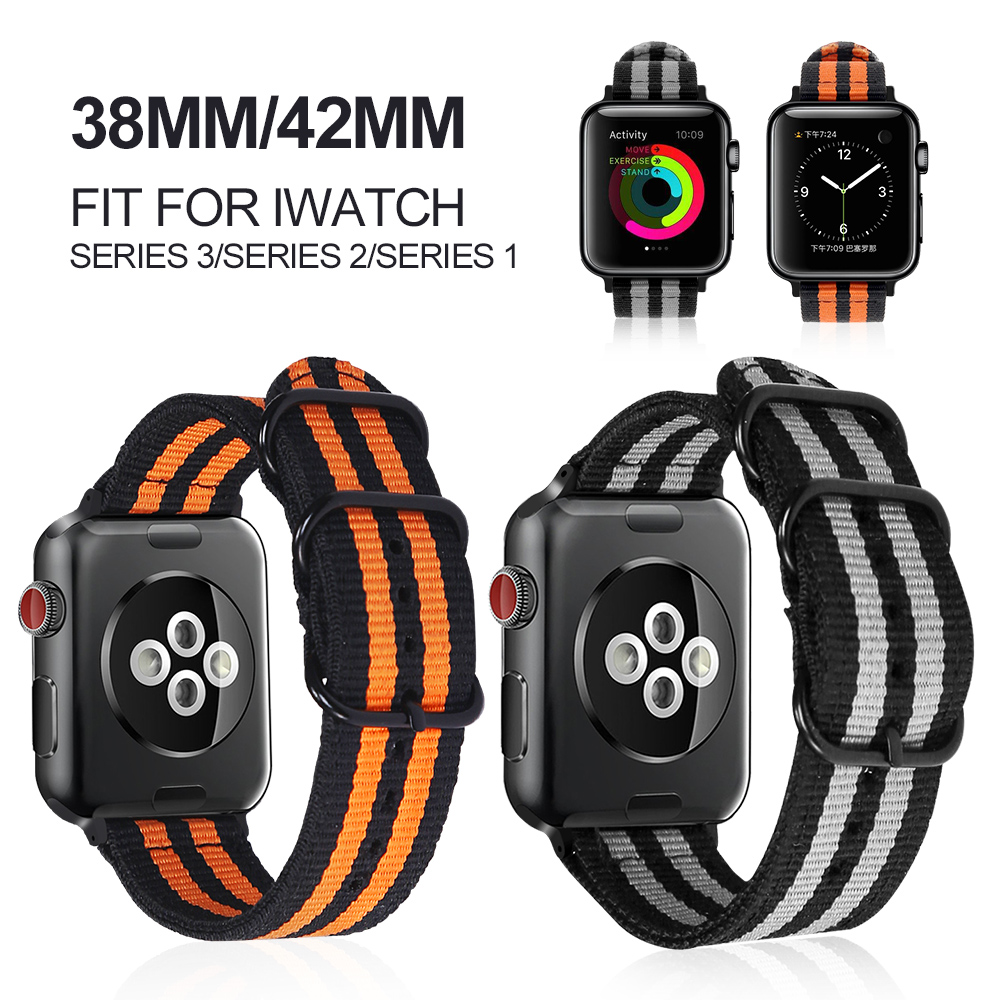 Series 3/2/1 Woven Nylon Sports Strap Band for Apple Watch 38mm 42mm sport for iwatch