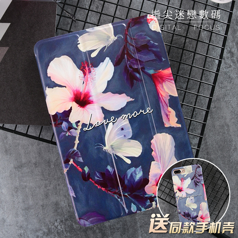 Blue Butterfly Flower Mini4 Mini2 Mini3 Flip Cover For iPad Pro 9.7 Air Air2 Mini 1 2 3 4 Tablet Case Protective Shell for ipad air glittery powder imprint butterfly flower leather smart casing rose gold