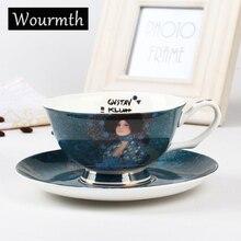 Wourmth. Всемирно известная картина чашка блюдо благородный роскошный костяной фарфор кофейная чашка и блюдце набор ложек керамический 220 мл современный фарфор