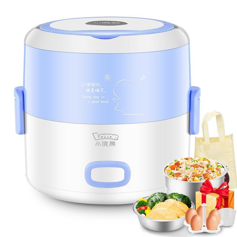 Lunchbox électrique Mini cuiseur Double prise chauffage électrique cuisson isolation automatique avec riz chaud cuiseur riz