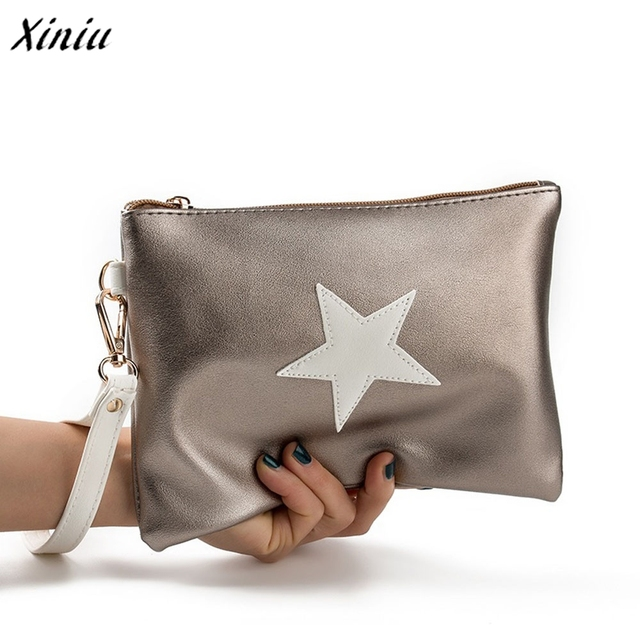 New handbag Women Envelope Bag Day Cluthes Bags Zipper Coin Purse Wallet Card Holders Stars Pattern Handbag bolsa feminina