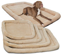 Puppy Pet Bed Cushion Coral Fleece Mat Pad Dog Cat Cage Kennel Crate Warm Cozy Soft