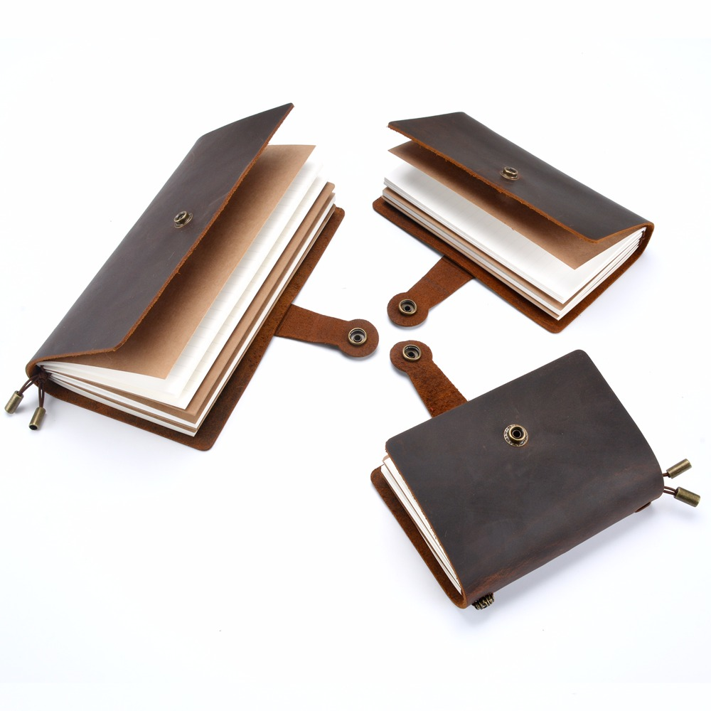 Real Leather Journal Diary Leather Note Book With Vintage Copper Feel