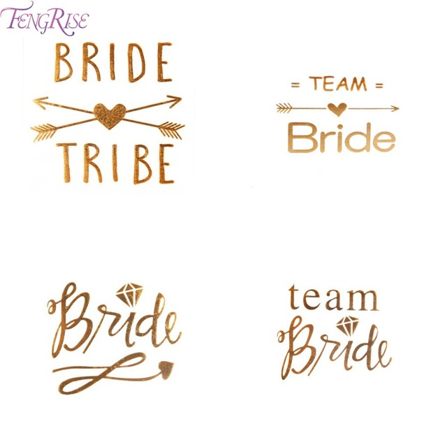 Aliexpress Com Buy Fengrise Gold Team Bride Temporary