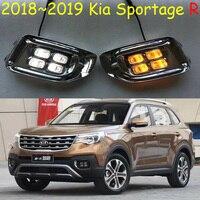 Car bumper headlight for Kia sportager daytime light LED 2018 2019year DRL head light for kia sportager fog lamp,KIA Sportage R