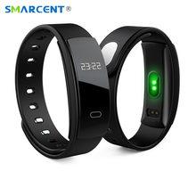 SMARCENT QS80P Bluetooth Умный Браслет Фитнес-Трекер Сердечного Ритма Артериального Давления Монитор Сна Сидячий Напоминание для IOS Android