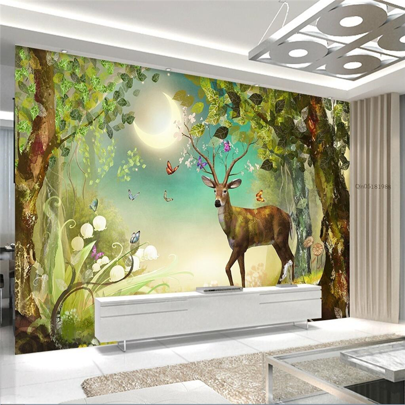 Murals For Walls popular 3d fairy wallpaper walls-buy cheap 3d fairy wallpaper