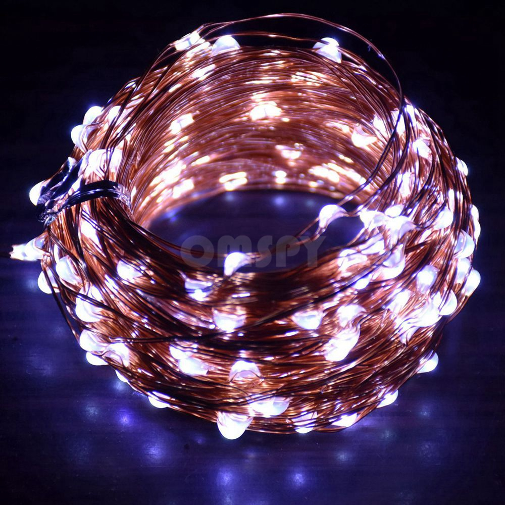 Réz String Light 10M / 20M / 30M / 50M DC12V Karácsonyi Fairy - Üdülési világítás - Fénykép 3