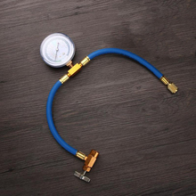 R134a AC System Car Recharge Measuring Refrigerant Hose Tube Can Tap Gauge
