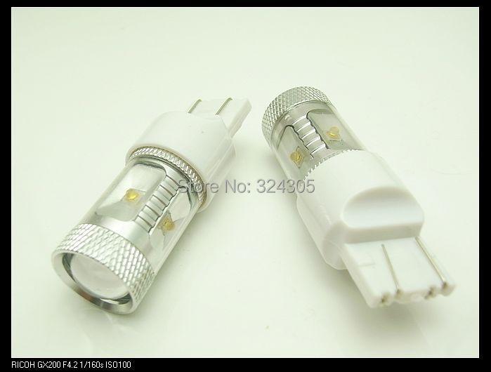 2 x T20 7443 Power 6* XBD R3 Backup LED P27/7W Reverse Tail Light Bulb Lamp Signal Turn Brake Parking DRL light White