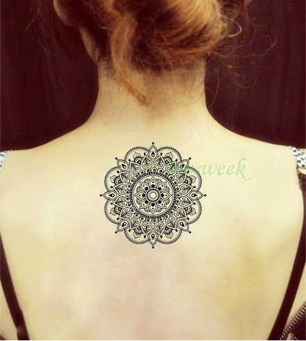 129cf48c1c6b1 Waterproof Temporary Tattoo Sticker flower lotus mandala henna mehndi tatto  stickers flash tatoo fake tattoos for