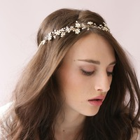 HandMade 2018 Rhinestone Pearl Small Flower Hair Bands Wedding Accessories The Bride Twigs Bridal Hairpins Romantic O011