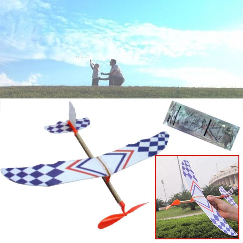 5Pcs Flying Glider Planes Model Toys Rubber Band Childrens Kids Gift Toy Airplane Birthday Christmas Gift For Children
