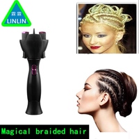 LINLIN 2016 Electric Two Strands Twist Braid Maker Hair Braider Device Kit Automatic Electronic Hair Braiders Hair Style Tools