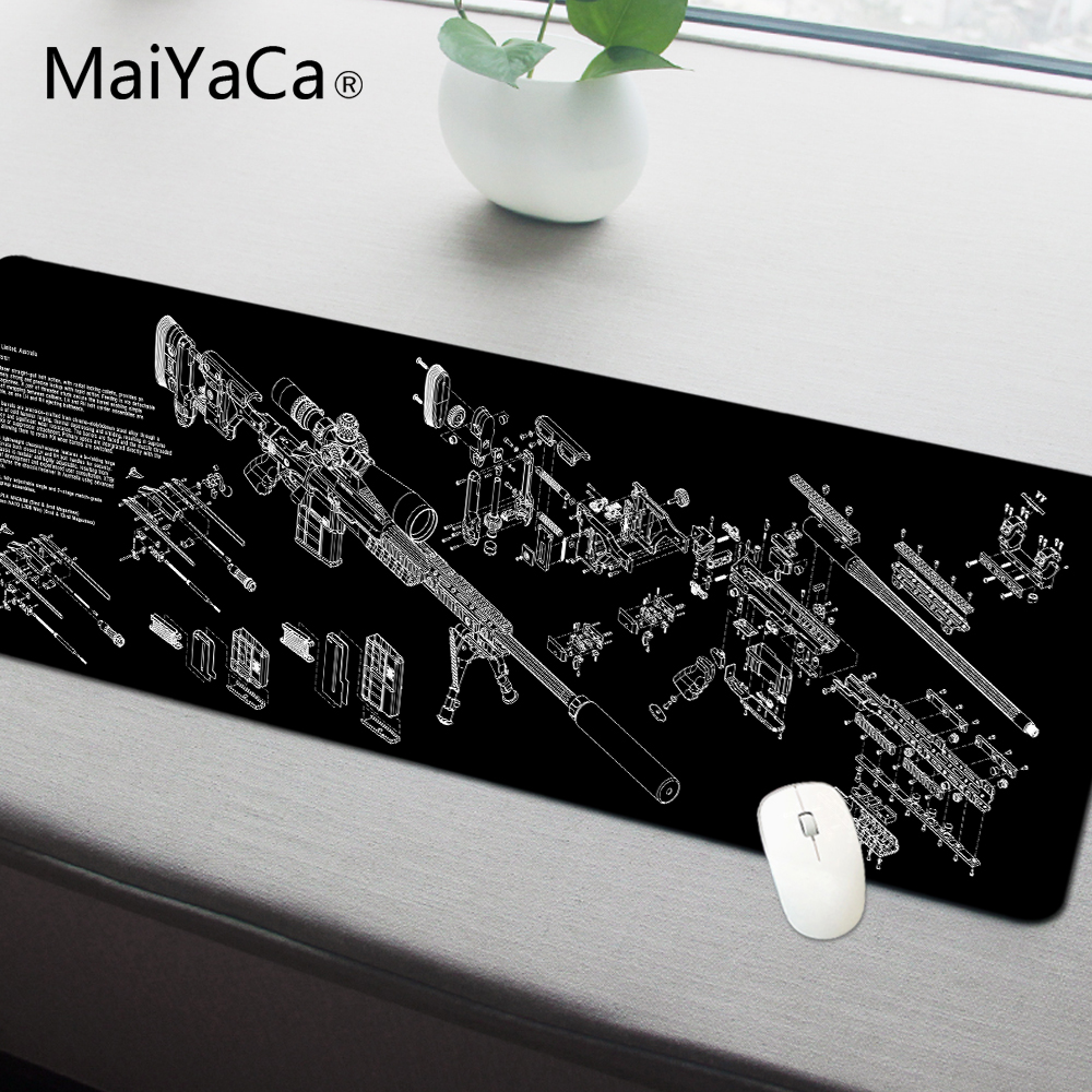 MaiYaCa Simple Design Speed Gun parts Game MousePads Computer Gaming Mouse Pad Gamer Play Mats Version Mousepad