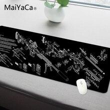 MaiYaCa Simple Design Speed Gun parts Game MousePads Computer Gaming Mouse Pad Gamer Play Mats Version
