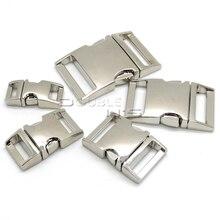 Lote de hebillas de Metal curvadas para bolsa, hebillas de Paracord para pulsera, 50 unidades