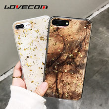 LOVECOM Vintage Platinum Marble Texture Phone Case For iPhone 6 6S 7 8 Plus  X Soft TPU Phone Back Cover Cases Coque 6f4b051e8e2a