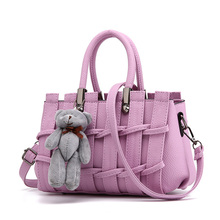 Best Supper Weekend Handbag PU Tote Bag Female Shaping Sweet With One Shoulder Cross-body Satchel Bag
