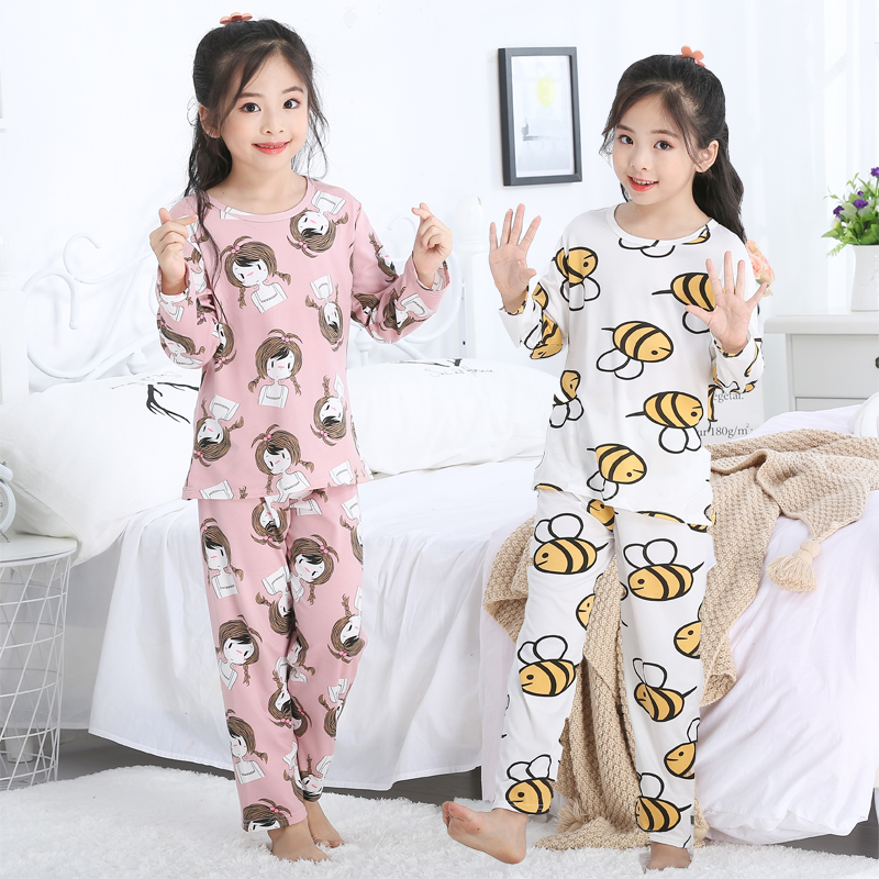 Children's Pajamas Set Girls' Clothing Spring And Autumn Long Sleeve Sleepwear Girls Children's Baby's Pajamas Girl Homewear Set
