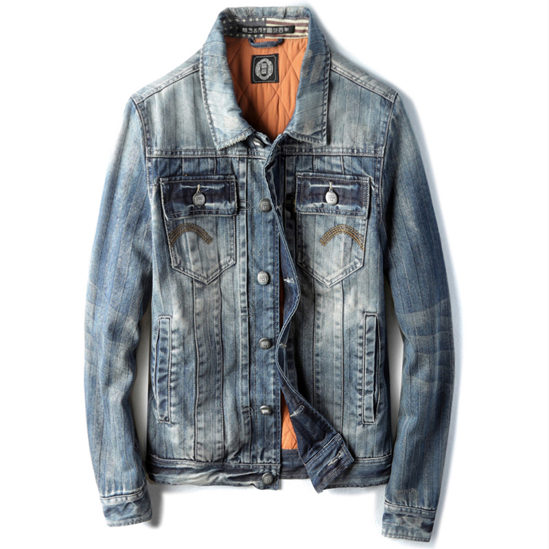 Cotton Padded Mens Automotive Denim Jackets and Coats Single Breasted Young Mens Jeans Jacket Winter Warm Overcoats 2018 C1436