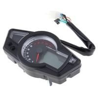 12V Universal Motobike Tachometer Blue LCD Backlight Speedometer Odometer Motorcycle Instrument Panel