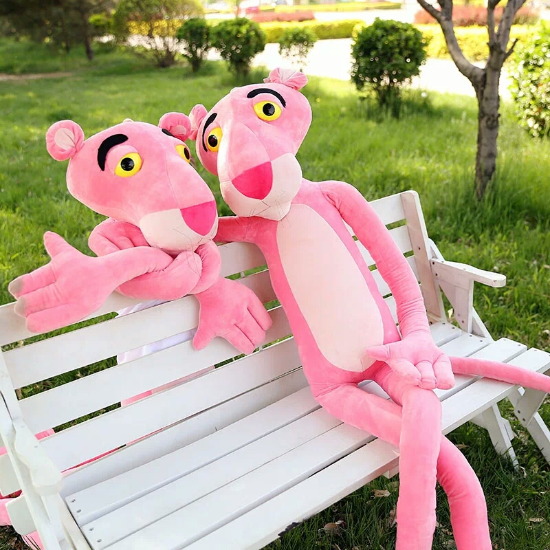 stuffed toy 110cm pink panther plush toy leopard doll throw pillow gift b0995