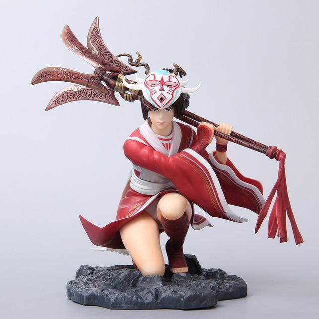 HOT 16.5cm Akali Action Figure Sexy LOL As balance dictates PVC Kids Gift  Toys doll Anime Movie Model Movable Cosplay collection