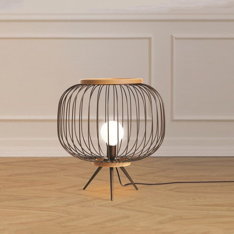 Modern Minimalist Nordic Home Decor Table Lamps for Living Room Creative Black Iron Line Birdcage Table Light Bedroom Desk Lamps|LED Table Lamps| |  - title=