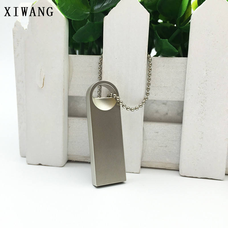 mini usb flash drive 32 gb usb stick 3.0 Silver metal necklace pen drive 4GB 8GB 16 gb pendrive 64 gb free custom LOGO gift крем для лица garnier garnier ga002lwivr65