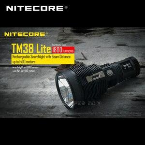 Image 4 - 小型モンスターシリーズ Nitecore TM38 Lite CREE XHP35 ハイ D4 LED 1800 ルーメン充電式サーチライトビーム距離 1400 メートル
