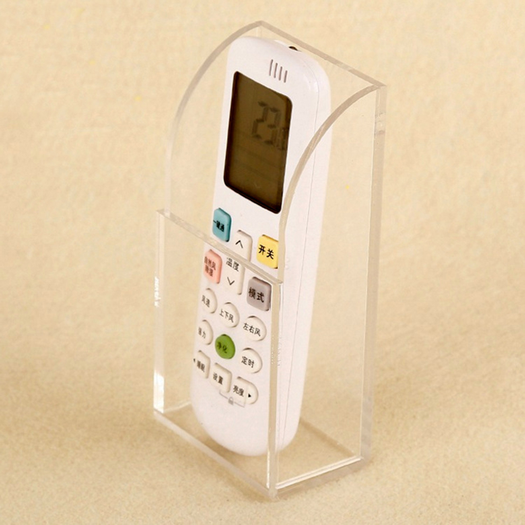 NEW Wall Mount Acrylic Air Condition Remote Controller Box Container Storage Organiser Hotel Case Office Home