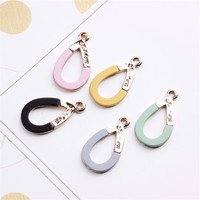 Trendy Korea Style Zinc Alloy Jewelry Charms 30PCs 14*26MM DIY Jewelry Findings Hollow Out Waterdrop Floating Bracelet Charm