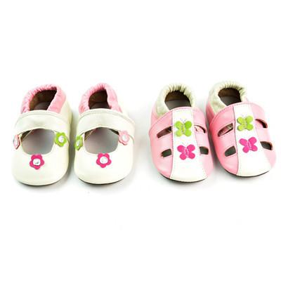 2017 Nueva Primavera Calado Mocasines Zapatos de Bebé de Cuero de Vaca Suela De Goma Arco Niños Niñas zapatos infantiles Primera zapatos del caminante recién nacido