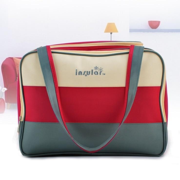 Raya colorida bolsa de pañales de rayas multifuncional cuidado del - Pañales y entrenamiento para ir al baño - foto 3