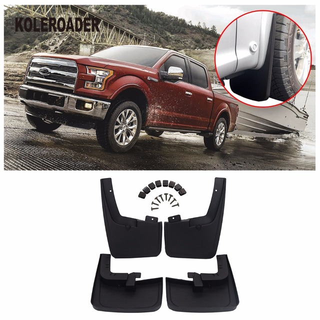 Front Rear Molded Splash Guards Mud Flaps For Ford F With Wheel