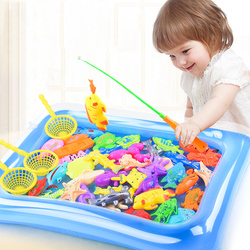 الأسماك اللعب المياه بركة المغناطيسي الأسماك القطب قضيب صافي طفل الأطفال نموذج لعب لعبة داخلي في الهواء الطلق تعلم الطفل صبي فتاة الصيد هدية