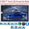 Novo 2 Din 7 ''polegadas LCD Touch screen jogador rádio do carro suporte 5 Idiomas Do Menu BLUETOOTH mãos livres carro câmera de visão traseira áudio