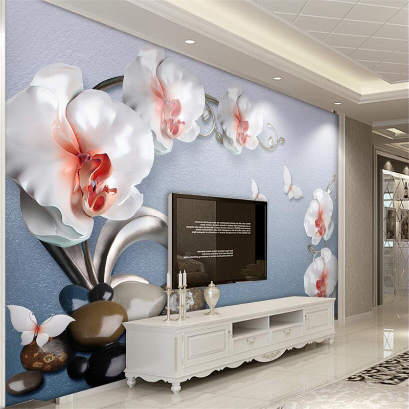 Painting Supplies & Wall Treatments Reasonable Beibehang Custom Wallpaper Modern Abstract Watercolor Beauty Roses Flower Tv Background Wall Living Room Bedroom 3d Wallpaper