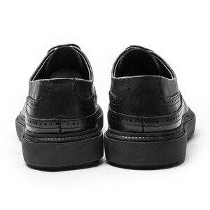 Image 5 - 2020 גברים עור נעלי גברים שמלת נעלי פורמליות חתונה מסיבת נעלי גברים רטרו מבטא אירי נעלי יוקרה מותג גברים של נעלי אוקספורד