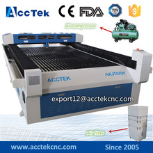 2017 best price AKJ1325H ,AKJ1390H metal laser cutter with servo motor/metal and non metal cutting lens