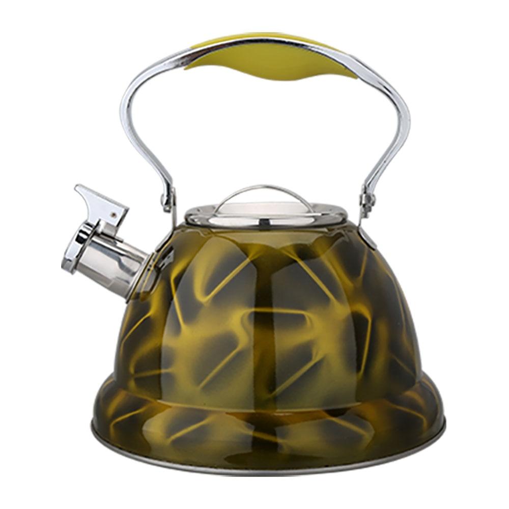 Bouilloire sifflante de café d'acier inoxydable de 3.2L bouilloires d'eau cuisinière à gaz d'induction Pot d'eau de thé cuisine à la maison